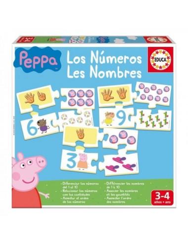Puzzle Aprendo Los Números De Peppa Pig
