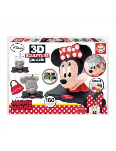 Puzzle Escultura Minnie Color 3D Educa
