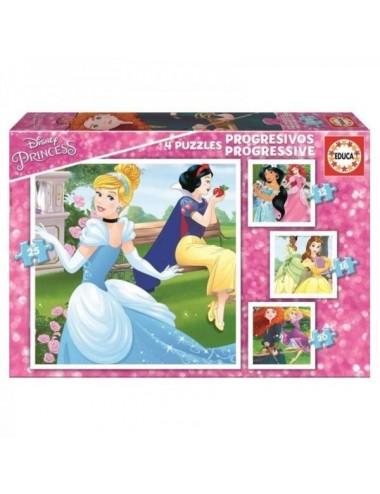 Puzzles Progresivos Princesas Disney 12+