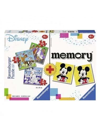 Multipack Disney 3 Puzzle + Memo Ravensb