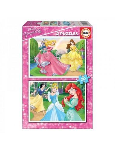 Puzzle 2X20 Piezas Princesas Disney