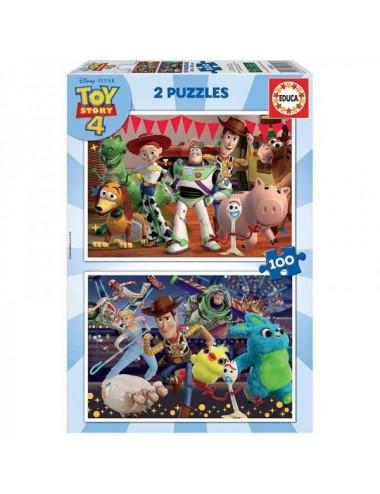 Puzzle Para Niños Toy Story 2 X 100 Piez