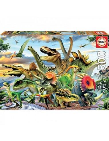 Puzzle Educa Dinosaurios 500 Piezas