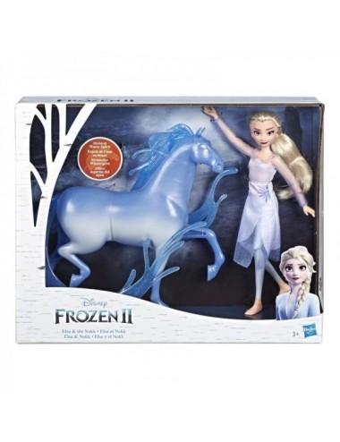 Muñeca De Elsa Y El Caballo Nokk De Froz