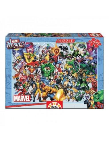 Puzzle De 1000 Piezas Heroes De Marvel D