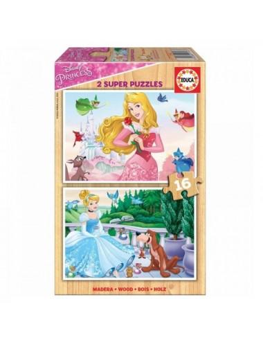 Puzzle 2 X16 Piezas Princesas Disney Edu