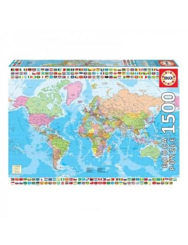 Puzzle De 1500 Piezas Mapamundi Politico