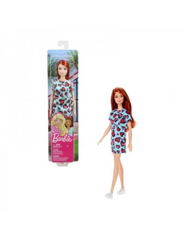 Barbie Chic  Vestido Verde Corazones