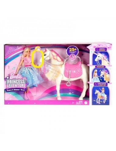 Barbie  Muñeca Princesa Y Su Caballo