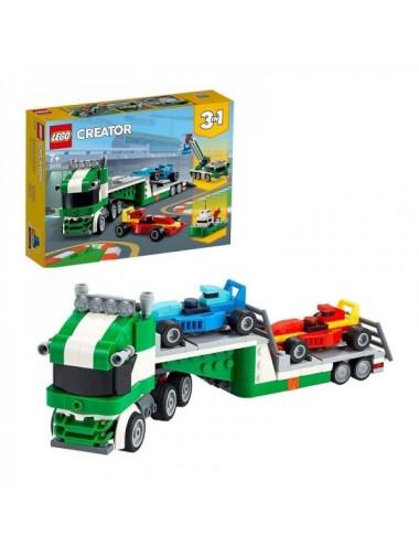 Transporte De Coches De Carreras De Lego