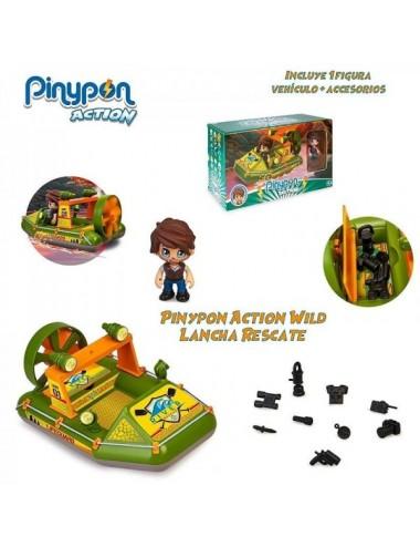 Pinypon Action Wild Lancha Rescate Con F