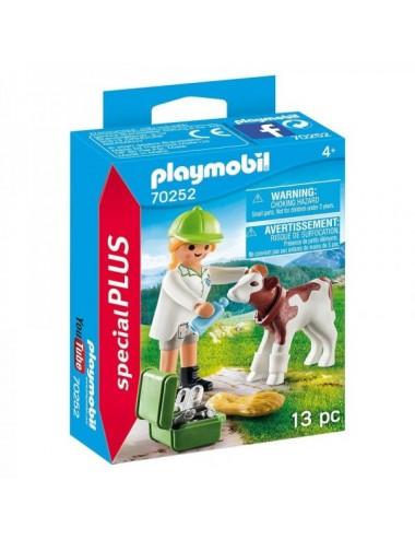 Veterinaria Con Ternero De Playmobil
