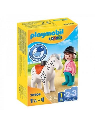 123 Jinete Con Caballo De Playmobil