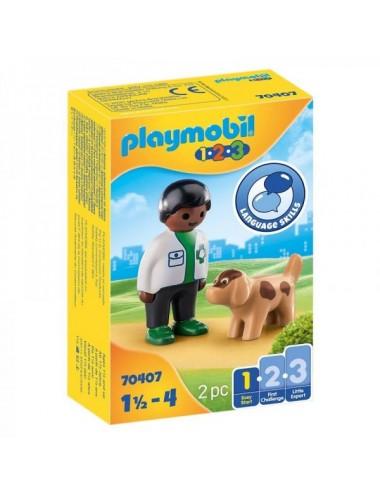 123 Veterinario Con Perro De Playmobil