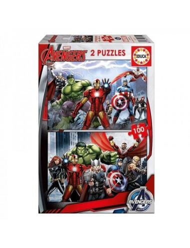 Avengers Puzzle 2 X 100 Piezas Educa