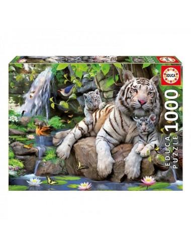 Puzzle De 1000 Piezas Tigres De Bengala